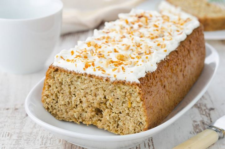 CARROT LOAF CAKE WITH ORANGE CREAM CHEESE ICING | Kiss my Ingredients